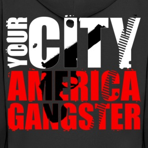 your city america gangster Hoodies & Sweatshirts - Men's Premium Hooded Jacket