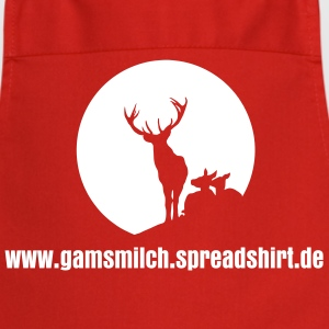 Stag Deer Sun Silhouette T-shirt T-shirt  Aprons - Cooking Apron