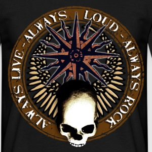 rock_and_roll_and_skull_and_pentagram_c Tee shirts - T-shirt Homme