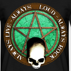 rock_and_roll_and_skull_and_pentagram_d T-Shirts - Men's T-Shirt