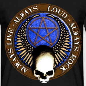 rock_and_roll_and_skull_and_pentagram_i T-Shirts - Men's T-Shirt
