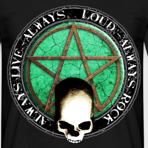 rock_and_roll_and_skull_and_pentagram_o T-Shirts - Men's T-Shirt
