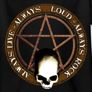 rock_and_roll_and_skull_and_pentagram_a Tee shirts - T-shirt Ado