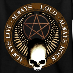 rock_and_roll_and_skull_and_pentagram_b Shirts - Teenage T-shirt