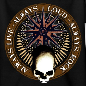rock_and_roll_and_skull_and_pentagram_c Shirts - Teenage T-shirt