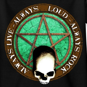 rock_and_roll_and_skull_and_pentagram_d T-shirts - T-shirt tonåring