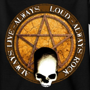 rock_and_roll_and_skull_and_pentagram_e Tee shirts - T-shirt Ado