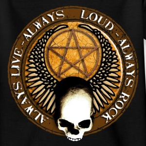 rock_and_roll_and_skull_and_pentagram_h T-shirts - Teenager-T-shirt