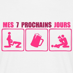 7 prochains jours sexe biere Tee shirts - T-shirt Homme