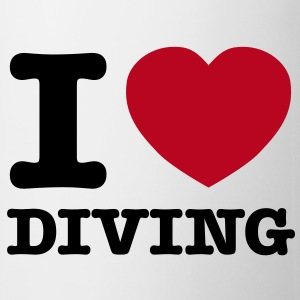 I Love Diving Tasses - Tasse