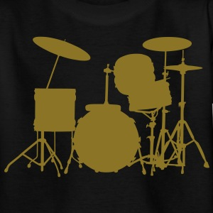 music drums drum set Kinder shirts - Teenager T-shirt