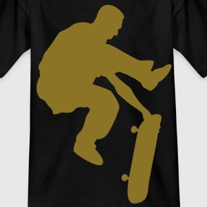 skateboard x games logo sport skate board Kinder T-Shirts - Teenager T-Shirt