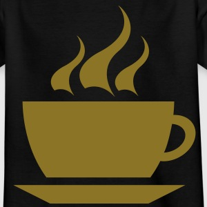 coffee cup tea cafe Børne T-shirts - Teenager-T-shirt