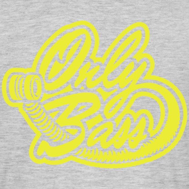 Texte devant, logo OB derrière.