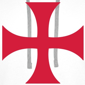 cross_of_the_templars Sweat-shirts - Sweat-shirt à capuche Premium pour hommes