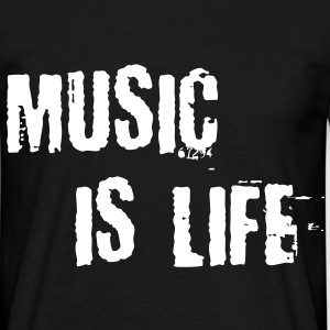 Music is life Tee shirts - T-shirt Homme