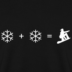 Black Snowboard + snowflake Hoodies & Sweatshirts - Men's Sweatshirt