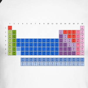 Periodensystem der Elemente (PSE) Periodic Table of the Elements Langarmshirts - Männer Baseballshirt langarm