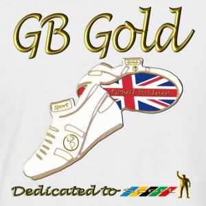 great britain union jack gold_stripes T-Shirts - Men's Baseball T-Shirt