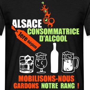 alsace 1ere region alcool2 Tee shirts - T-shirt Homme