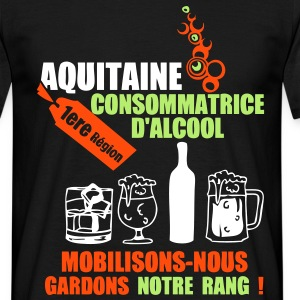 aquitaine 1ere region alcool2 Tee shirts - T-shirt Homme