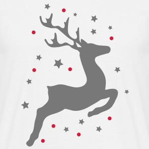 leaping reindeer T-Shirts - Men's T-Shirt