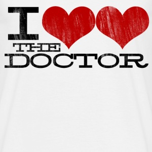 I HEART HEART the Doctor (Black Text) Design T-Shirts - Men's T-Shirt