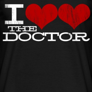 I Heart Heart the Doctor (White Text) Design T-Shirts - Men's T-Shirt