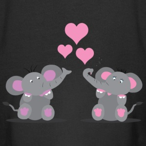 Elephants in Love Kinder Pullover - Kinder Premium Kapuzenjacke
