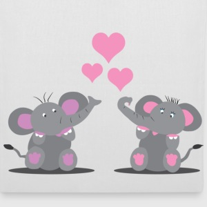 Elephants in Love Vesker - Stoffveske