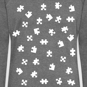 jigsaw puzzle Hoodies & Sweatshirts - Women's Boat Neck Long Sleeve Top