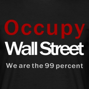 Occupy Wall Street black T-Shirts - Männer T-Shirt