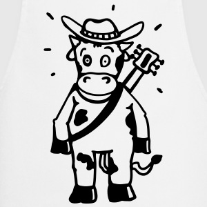 Cow cowboy with a guitar  Aprons - Cooking Apron