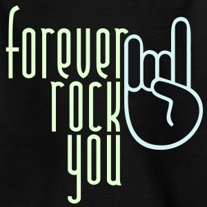 MANO CORNUTA - forever rock you | Kindershirt - Teenager T-Shirt