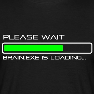 spruch_brain_exe_2 T-Shirts - Men's T-Shirt