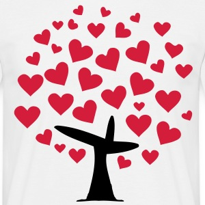 tree heart  (2c) T-Shirts - Men's T-Shirt