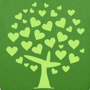tree heart  (1c) Bags  - EarthPositive Tote Bag