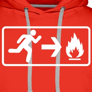 run_to_rescue_pompier_fireman Sweat-shirts - Sweat-shirt à capuche Premium pour hommes