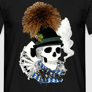 Bavaria skull - T-skjorte for menn