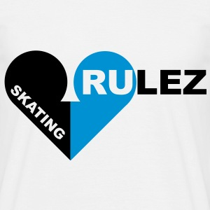 skating rulez 2-colours T-Shirts - T-shirt herr