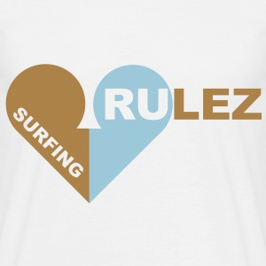 surfing rulez 2-farbig T-Shirts - Mannen T-shirt