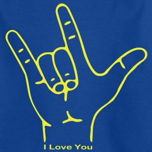 Fingerzeichen ILY Kinder T-Shirts - Teenager T-Shirt