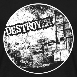 Destroyer white print - Männer T-Shirt