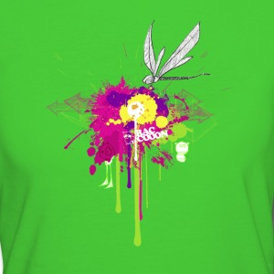 Graffitiblume P T-Shirts - Frauen Bio-T-Shirt