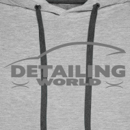 Design ~ Detailing World Grey Logo Hooded Fleece Top