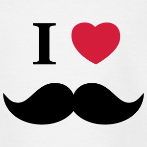 I Love Beards Barn-T-shirts - T-shirt tonåring