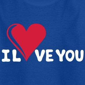 I LOVE YOU - Je t'aime - Saint-Valentin Tee shirts Enfants - T-shirt Ado