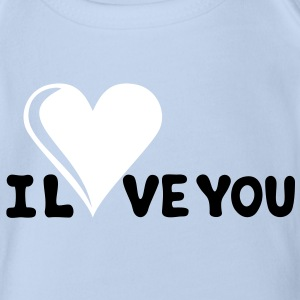I LOVE YOU - Romance - Valentine's Day - Heart - Gift Baby Bodysuits - Organic Short-sleeved Baby Bodysuit