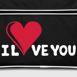 I LOVE YOU - Romance - Valentinsdag - Heart - Gift Vesker - Retro veske