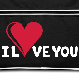 I LOVE YOU - Romantiek - Valentijnsdag - Hart - cadeau Tassen - Retro-tas